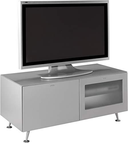 Miroytengo Mesa TV Luxury salón Comedor Mueble de Television Estilo Retro Plata Mate 120x53x55 cm