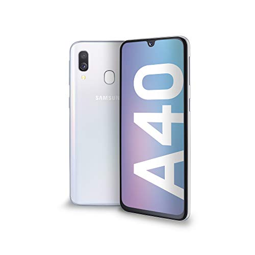 Samsung Galaxy A40 Smartphone, Display 5.9' Super AMOLED, 64 GB Espandibili, RAM 4 GB, Batteria 3100 mAh, 4G, Dual Sim, Android 9 Pie, [Versione Italiana], White