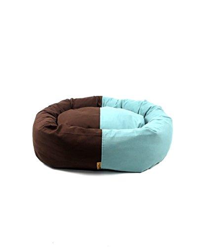 ThePetLover TPL130022 donutbed voor honden, L, chocolade en mint