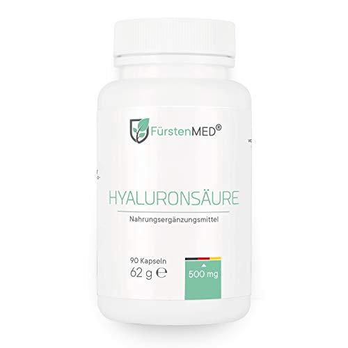 SONDERANGEBOT: FürstenMED® Hyaluronsäure Kapseln - Hochdosiert 500mg Hyaluronsäure 500-700 kDa - Vegan - 90 Kapseln laborgeprüft und hergestellt in Deutschland