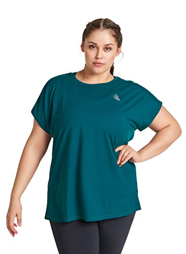 Active by Zizzi Dames Grote Maten Sports T-Shirt Korte Mouw Fitness Top 42-56