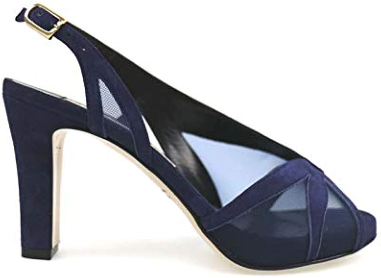 GUIDO SGARIGLIA Sandals Womens Suede bluee