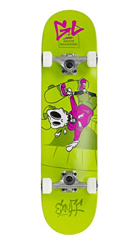 "Enuff Skateboards Skully Complete Skateboard, Unisex, Erwachsene, Unisex-Erwachsene, ENU2100, Grün (Green), 7.75\"""