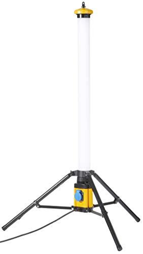Northpoint LED Tower Turm 50W 360 ° Baustrahler Arbeitsstrahler IP54 mit Schalter und Steckdose 5000 Lumen Farbwiedergabewert Ra>90