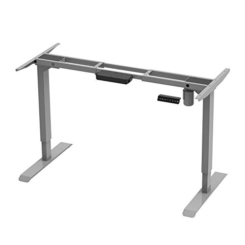Aimezo Height Adjustable Electric Standing Desk Base in Grey - $188.12 Today