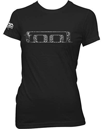 Tool 'Eyes Logo' (Black) Womens Fitted T-Shirt (xx-Large)