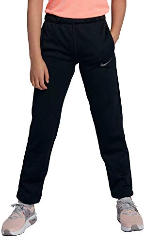 Nike Girl's Therma Training Pants (Black, Medium)