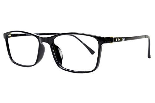 KlAtè brillenbril LUCE BLAUW PC, smartphones, tablets, tv's, games, enz. AntiriFLESSO, GRAFIO, UV 100% gloednieuw en superlicht Secundus - Nero Lucido