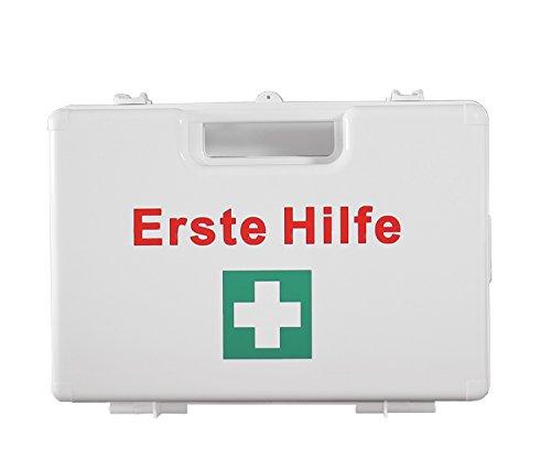 Betriebsverbandkoffer Erste Hilfe Koffer DIN 13157 Verbandkasten + Halter weiß 620161 Verbandskoffer