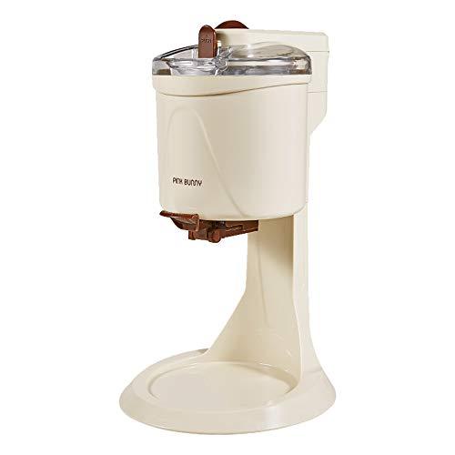 20W Softeismaschine Eismaschine Frozen Yogurt-Milchshake Maschine Flaschenkühler,Speiseeisbereiter,1 liters,Schokoladenfarbe