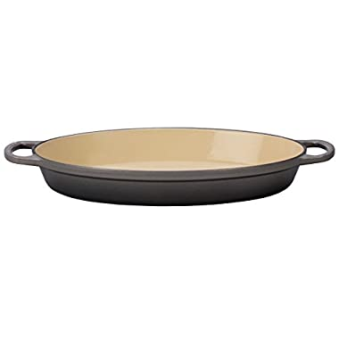 Le Creuset Enameled Cast Iron Signature 1QT. Oval Baker - Oyster