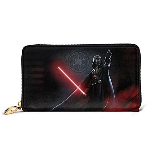 Damen Clutches Star War Darth Vader Geldbörse blockiert Echtleder-Geldböverschluss Geldbörse Organizer Clutch Kreditkartenhalter groß
