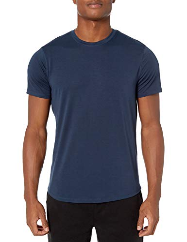 Peak Velocity Marca Amazon Smart Jersey Ligero Cuello Redondo Camiseta Azul Marino Grande