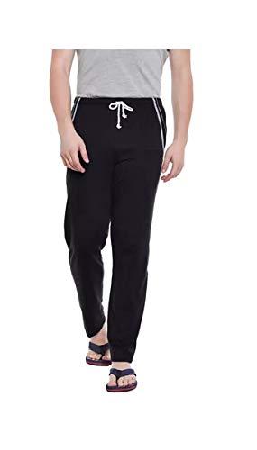 Tryo Men Black Cotton Hosiery Pyjama