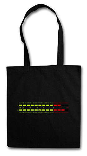 DB Meter I HIPSTER BAG – Decibel Music Bass Retro Radio Cassette Tape Record Vinyl Stereo Music Musik Recorder Studio Recording Producer Designer Shirt