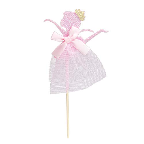 BESTOYARD Ballerina Tänzerin Kuchen Topper Glitter Kuchen Dekorationen für Hochzeit Brautdusche Geburtstag Party Dekoration 12 STÜCKE (Rosa)