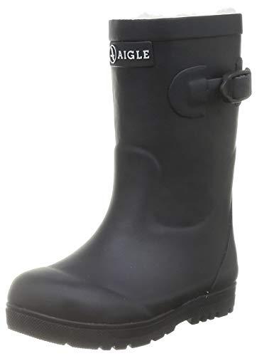 Aigle Woodypop Fur, Botte de Pluie, Marine, 24 EU