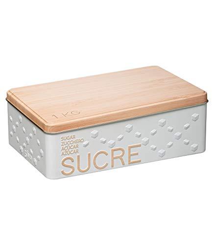 Five - Boîte à Sucre en morceaux en métal déco en relief