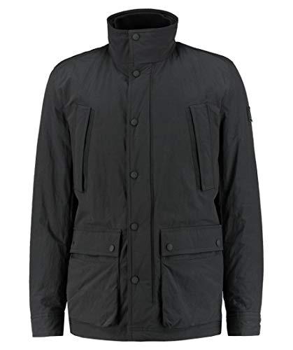BOSS Hugo Orove zwart lichtgewicht Zip Up gewatteerde jas 50413285