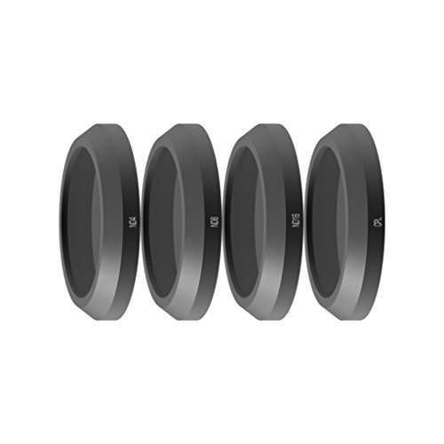 Freewell Standard Day-Camera Lens Filter Set 4Pack ND4, ND8, ND16, CPL Made for used with Parrot Anafi Drone