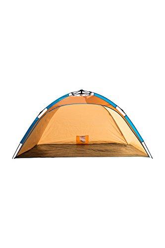Mountain Warehouse Automatische Strandmuschel UV40 - Strandzelt mit Tragetasche, Automatisches Sonnenschutzzelt, UPF40+ Sonnenschutz - für Picknick, Strand, Park Orange Einheitsgröße