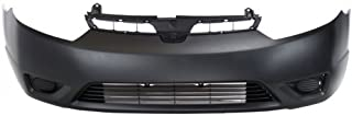 Front Bumper Cover Compatible with 2006-2008 Honda Civic Primed Coupe