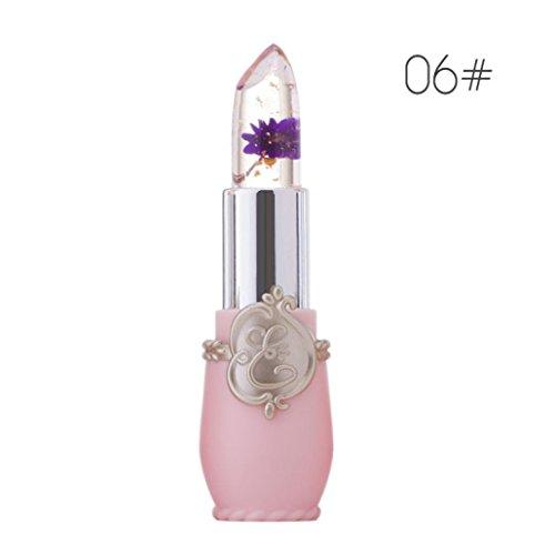 Gaddrt Beauté lumineux Fleur cristal gelée rouge à lèvres magique changement de température couleur lèvre (F)