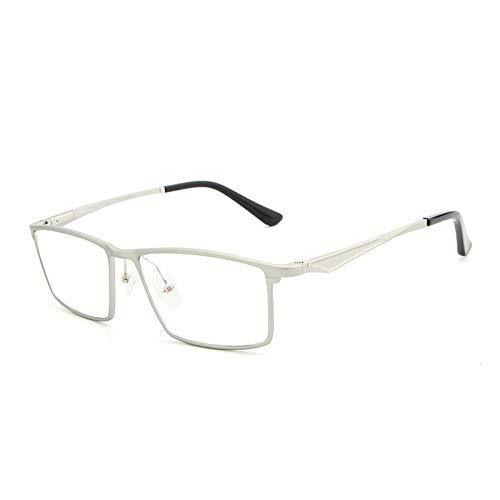 Mjd Sun Aluminum-magnesium ultra-licht blauw licht platte spiegel bril frame eenvoudige mode mannelijke Zonnebril