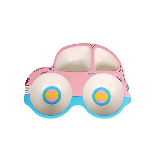 Chew Plato Infantil Antideslizante,Bebe Plato de Alimentación,diseño de Cuatro Compartimentos,fácil de Limpiar,diseño de Ventosa Inferior,Superficie Lisa,se Puede Usar Cuando los niños comen