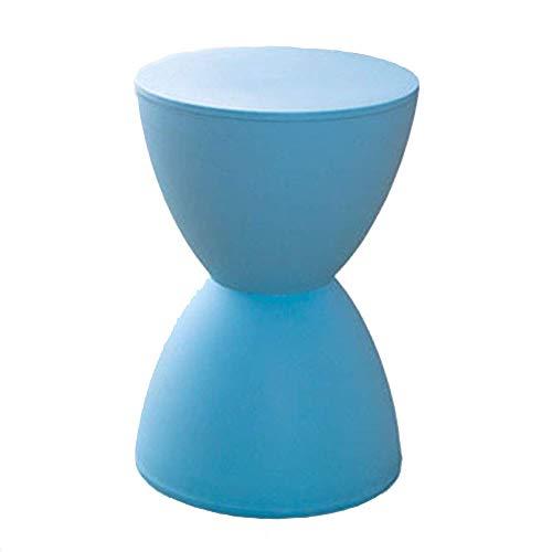 YLCJ voetbank voetbank werk kruk schoonheid kruk douche kruk barkruk zandloper vormige vrije tijd plastic verandering multifunctionele huis creatieve schoenen (kleur: wit) Blauw