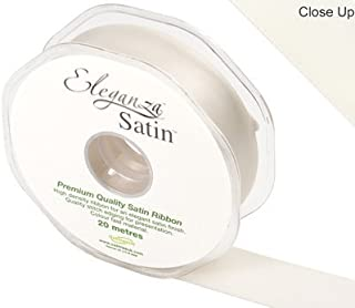 Oaktree Eleganza Double Faced Satin 25mm x 20m Ivory No.61
