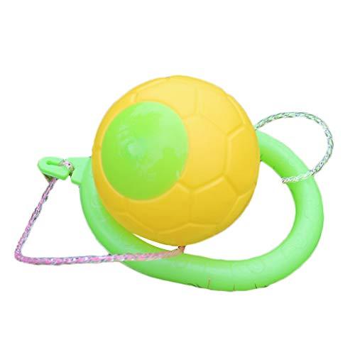 rongweiwang Zufällige Farbe Kunststoff Jump Spielzeug Kugel Spielzeug für draußen Kinder Gymnastikball One Foot überspringen Kugel Fuß Springseil Spielzeug