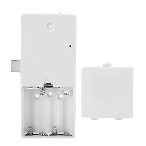 Locker Lock, Smart Lock Impermeable Seguro de Usar Identificar rápidamente la Huella Digital táctil para la Oficina para el hogar(Gold)