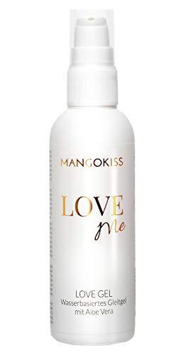 MangoKiss LOVE ME Gleitgel auf Wasserbasis - Gleitmittel mit Aloe Vera - vegan, kondomgeeignet, hautpflegend, ergiebig - Hergestellt in Deutschland