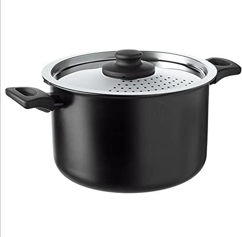 IKEA (004.622.13) HEMLAGAD 5.3 qt (5 l) Black Pot with Lid