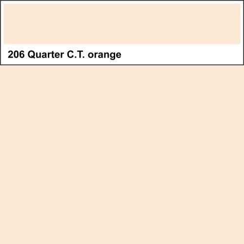 Lee Farbfolie 206 Quarter C.T. Orange 25cm x 123cm
