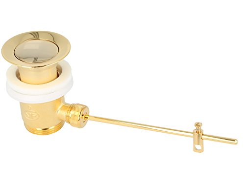tecuro Exzenter Ab- und Überlaufgarnitur gold für Waschtisch