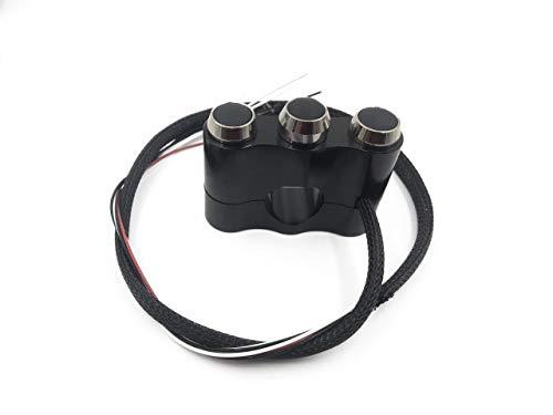 XueQing Pan etc, start-up, korte mist, luidspreker, 3-in-1-schakelaar van aluminiumlegering Cosmopolitan motorfiets 7/8