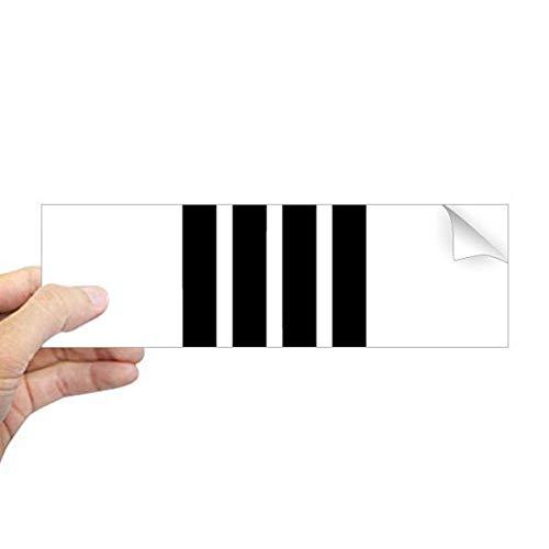 DIYthinker Romeinse cijfers Zeven In Zwart silhouet Rechthoek Bumper Sticker Notebook Window Decal