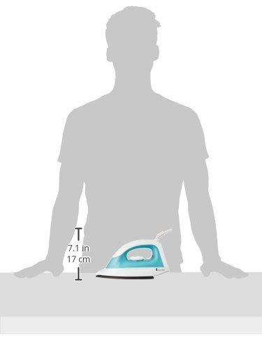 Amazon Brand - Solimo 1000-Watt Dry Iron (White and Turquoise)