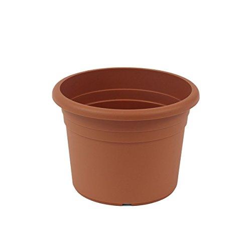 greemotion Pot de fleurs rond en plastique Ø 35cm 12L - Pot pour plantes extérieures et intérieures - Pot de jardin couleur terre cuite