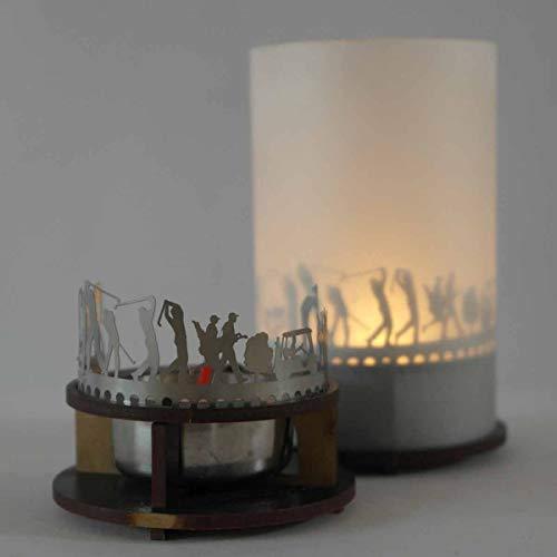 13gramm Golf Windlicht Schattenspiel Premium Geschenk-Box, inkl. Kerzenhalter, Kerze, Projektionsschirm und Teelicht