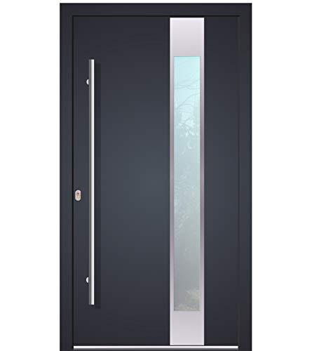 Haustür Welthaus WH94 RC2 Premiumtür Aluminium mit Kunststoff LA150 Tür 1000x2000mm DIN Links Farbe aussen anthrazit 7016 Innen weiß außengriff BGR1400 innendrucker M45 Zylinder 5 Schlüßel