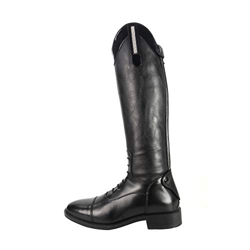 Brogini Como Piccino Patent Top Kids Long Riding Boots EUR 38 Black
