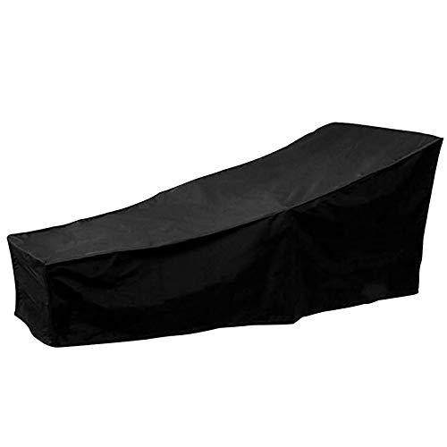 Facibom - 1 paquete de funda para tumbona de sol para exteriores, funda para tumbona de jardín, impermeable en mimbre de silla, capa de protección para muebles de terraza