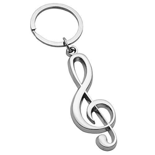 Keepdrum Notenschlüssel Violinschlüssel Schlüsselanhänger silberfarben