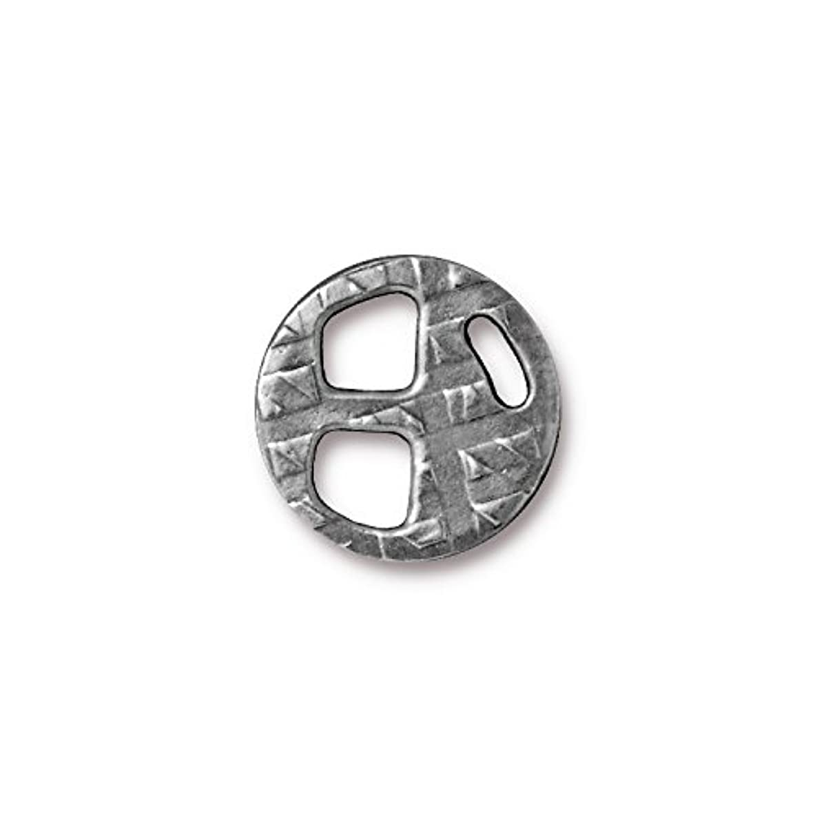 TierraCast Tri-Buckle, 5mm/18mm, Antique Pewter, 3-Pack