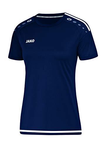 JAKO Striker 2.0 KA Maillot Femme, Bleu Marine/Blanc, 36