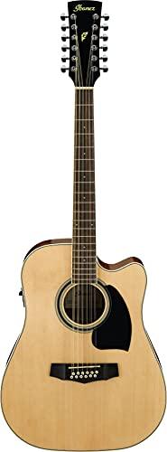 IBANEZ PF-Serie Akustikgitarre 12 String Performance - Natural High Gloss (PF1512-NT)