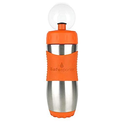 Kid Basix - Borraccia sportiva con chiusura di sicurezza, 475 ml, colore: arancione